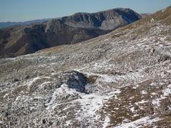 Distese rocciose dietro il monte Meta