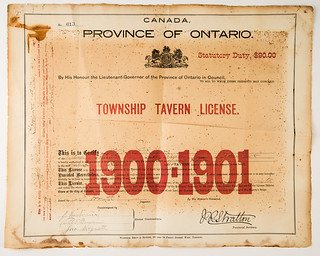 Flinton Hotel (Stewart House) Tavern License 1900-1901