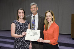 Rebecca Beesley and Nicole Craker received 3rd place in poster competition