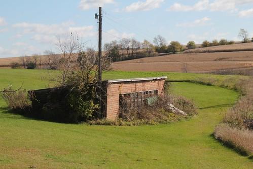 Primrose, Wi- Brick chicken(?) house on Cty G
