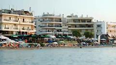 Crowded resort at seaside