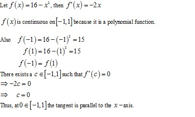 Free Online RD Sharma Class 12 Solutions Chapter 15 Mean Value Theorems Ex 15.1 Q7