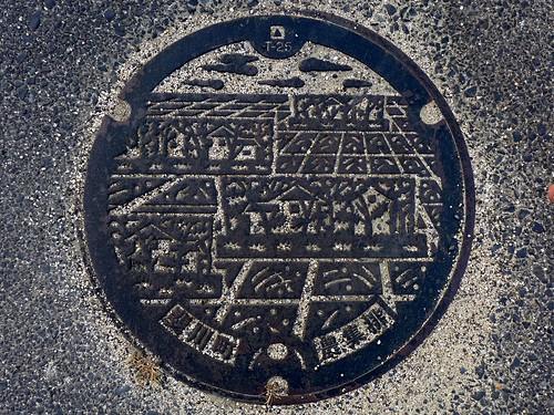 Hikawa Shimane, manhole cover 2 (島根県斐川町のマンホール2)