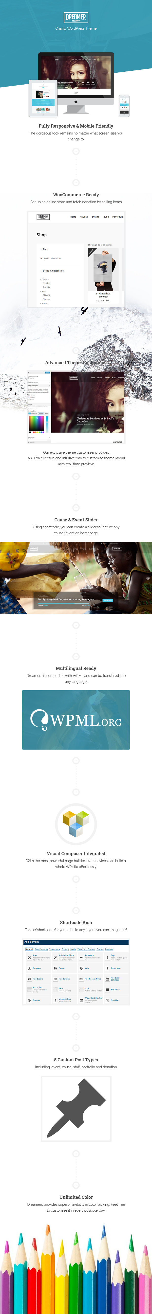 Dreamer charity wordpress theme