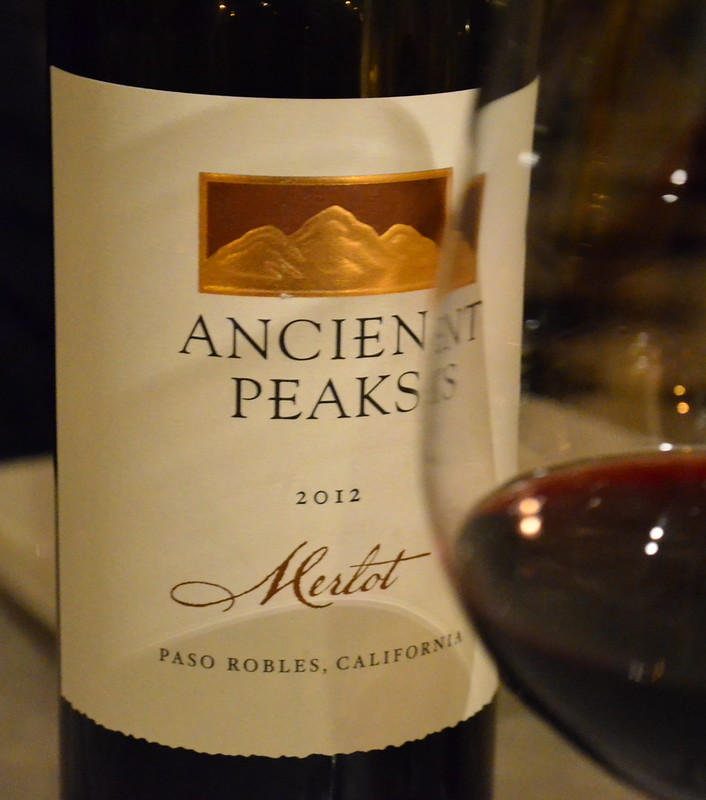 Ancient Peaks Merlot and Glass