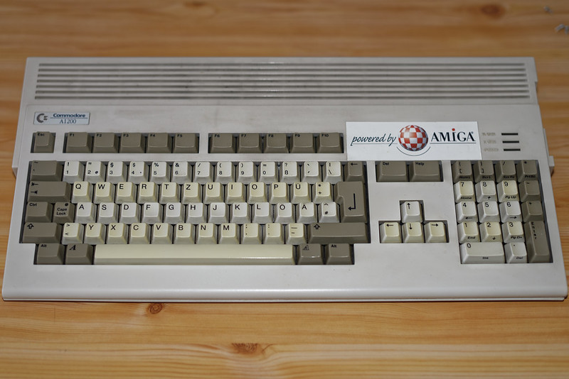 "My Amiga 1200 before ""Operation Dust-Off"" commenced"