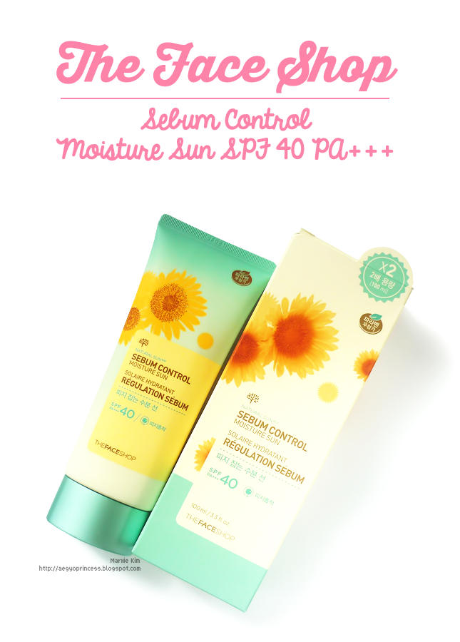 The Face Shop Natural Sun Eco Sebum Control Moisture Sun SPF40 PA+++ Review