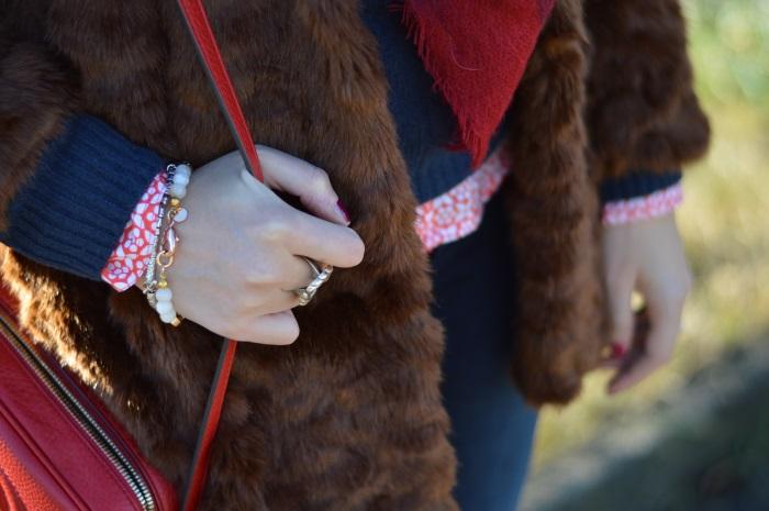 pellicciotto, faux fur, Zara, outfit, look, Benetton, Gucci, disco bag, wildflower girl (17)