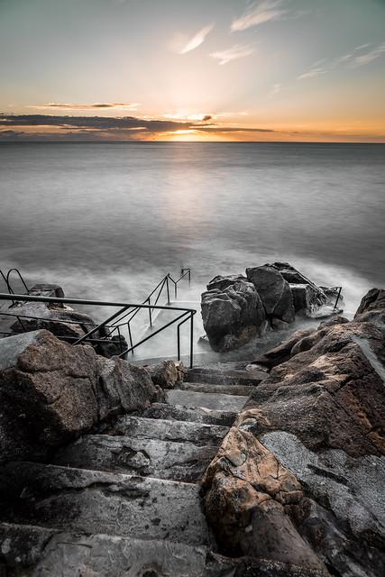 Sunrise in Hawk cliff, Killiney, Co. Dublin, Ireland
