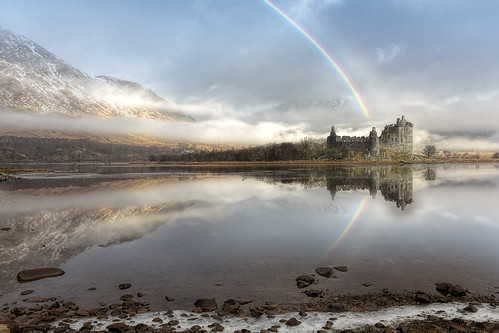 landscape scotland rainbow lochawe 1450 kilchurncastle argyllbute lordofglenorchy