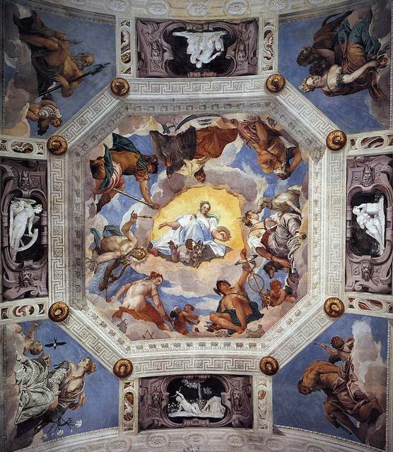 Paolo Veronese, Villa Barbaro, Maser, Decke im Saal des Olymps