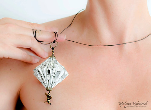 Sheet Music Paper Necklace by Malena Valcárcel