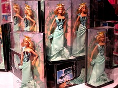 display window, action figure, doll, barbie, toy,