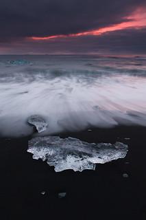 Strand vor der Gletscher Lagune Jökulsárlón | Roland Krinner