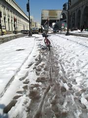 Snowy and Slushy at Union Station