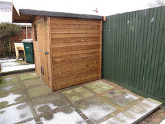 backyard, building, fence, garden buildings, wood, property, gate, real estate, shed,