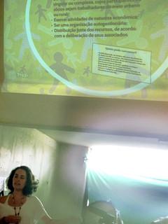Daniela Rueda, integrante do FBES, durante a oficina