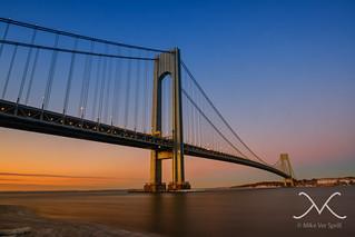 Verrazano Bridge Sunrise from Brooklyn Side