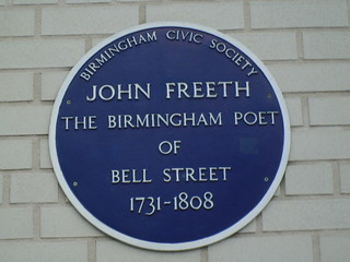 JOHN FREETH BLUE PLAQUE