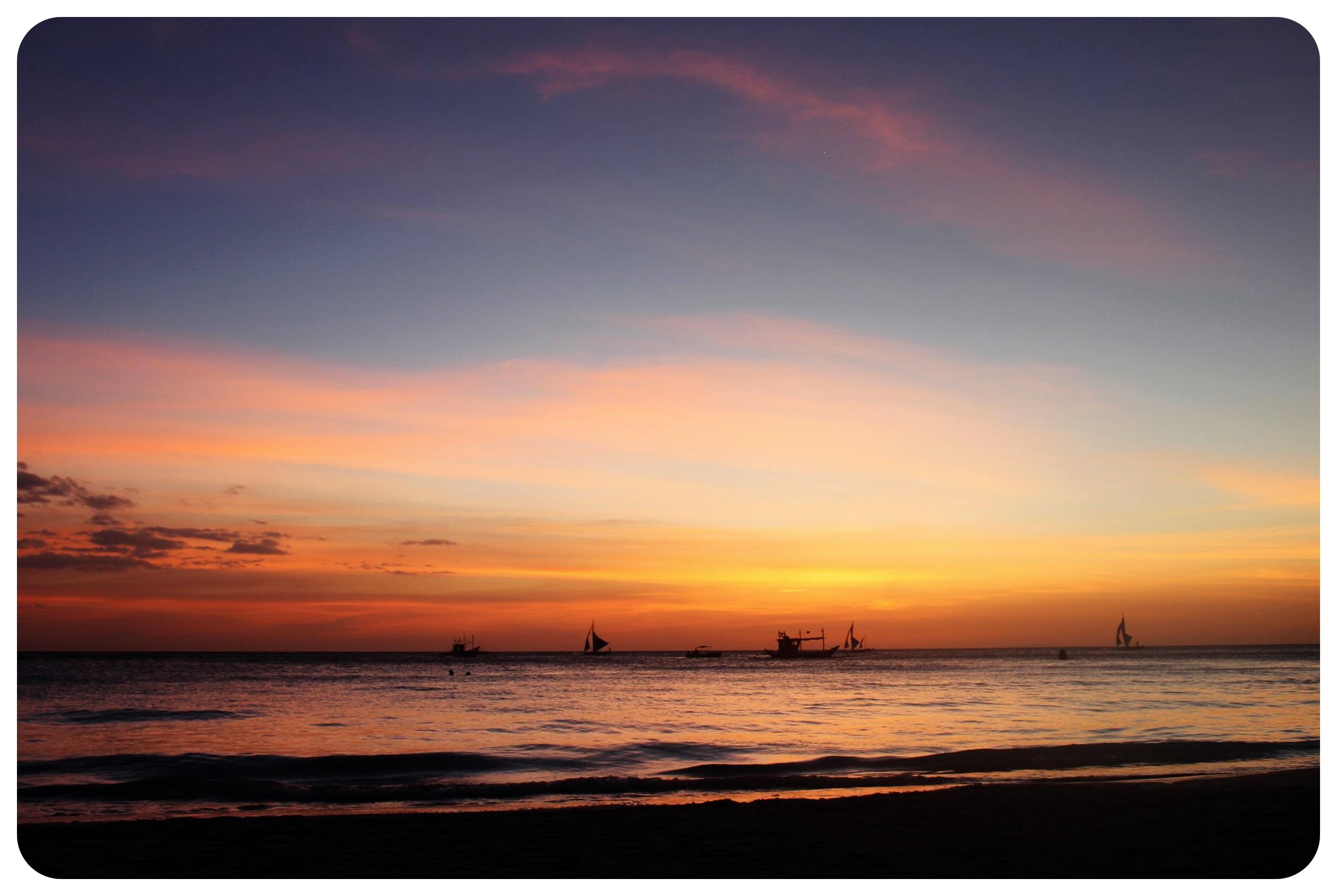 boracay sunset sky