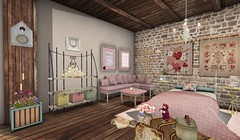 Vintage Romance Bedroom Room Left