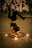 Full moon fire spin, London