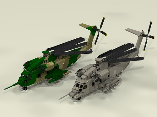 HH-53C Super Jolly Green Giant and MH-53J Pave Low III