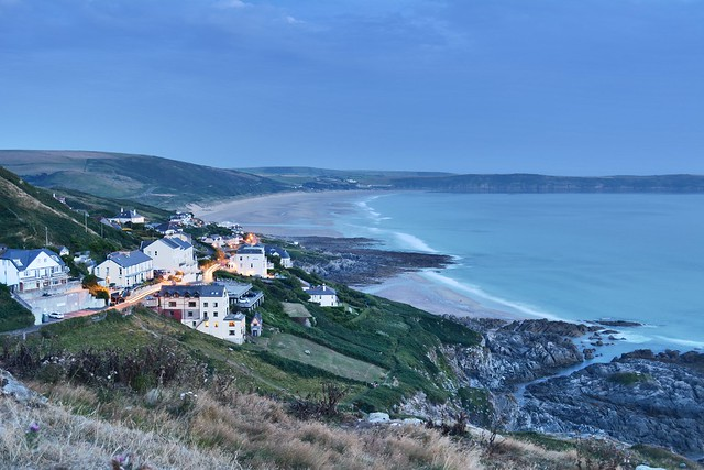 Dusk over Mortehoe