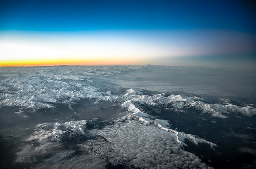 Sunrise over Italy...