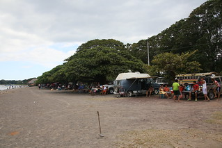 Getting in early for our slot on the shore line of Lake nicaragua .  Granada, Nicaragua.