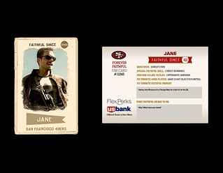 FIREFLY 49ERS FAN FOOTBALL CARD