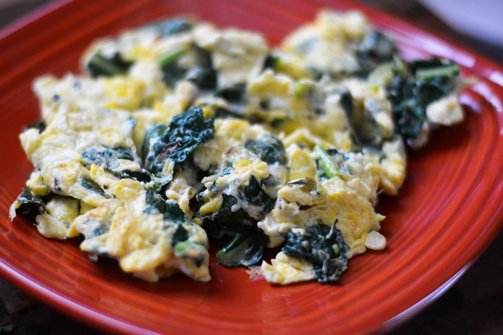 eggs + kale