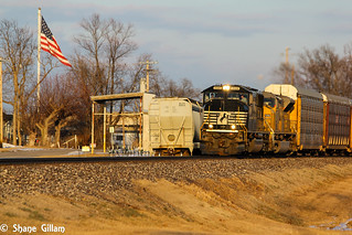 Going into the setting sun with all EMD's.