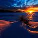 Le lac Servieres aux aurores by Bob Guedin