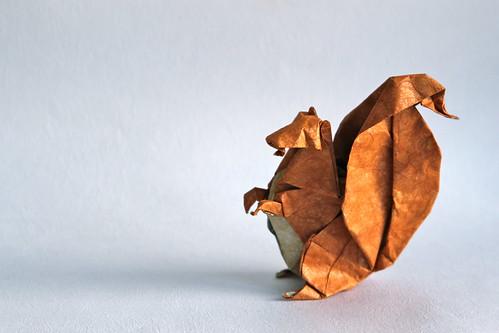 Origami squirrel (Michael Lafosse)