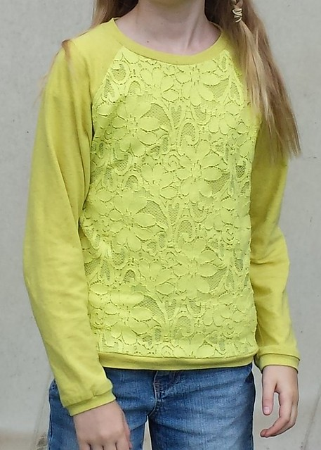 Figgys Seraphic Raglan with lace front and back overlay
