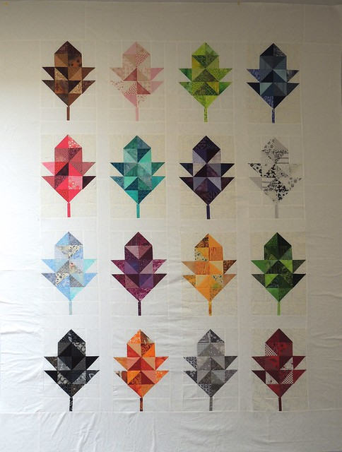 Finished Oak Leaf Quilt Top