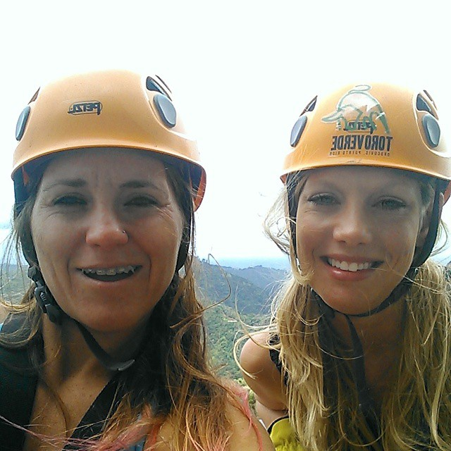 Toro Verde ... Zip lining through the rain forest. #triouradventure #triathletesarecrazy