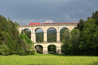 Изображение на Semmering railway близо до Semmering. track railway taurus bahn semmering obb rinne viadukt kalte kalterinne