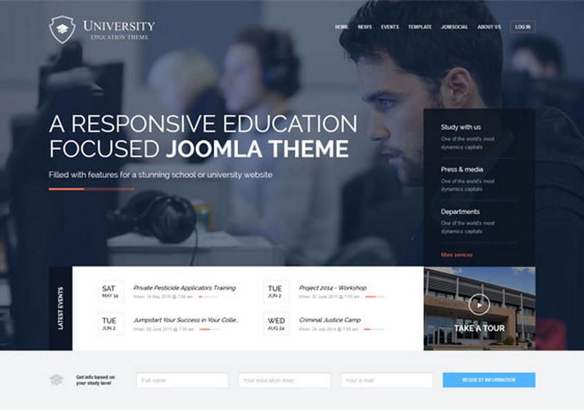 University - шаблон для CMS Joomla