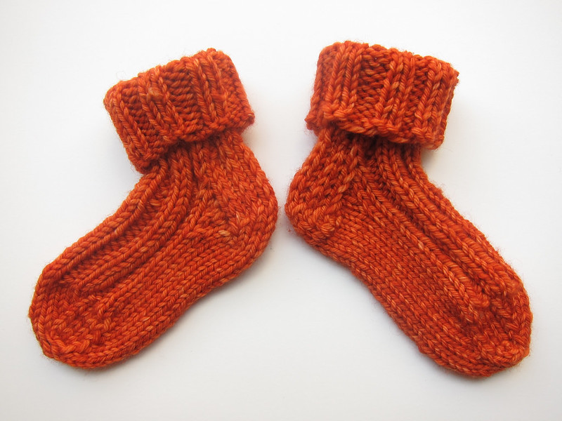 Orange Jellybean Baby Socks