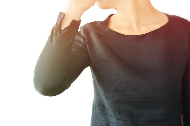 Blouse Airelle noire en lin