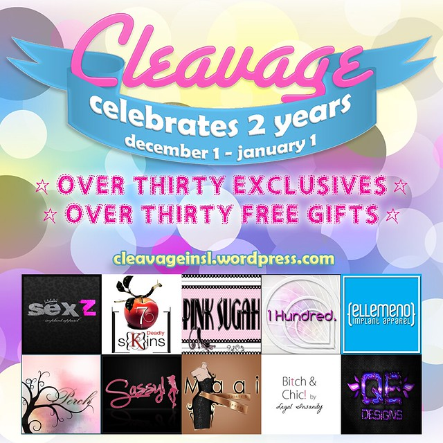 Cleavage Celebrates 2 Years - December 1st - January 1st!