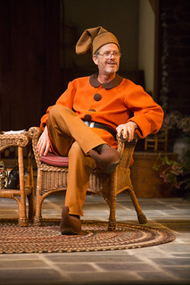 Martin Moran in Christopher Durang's smash-hit Broadway comedy Vanya and Sonia and Masha and Spike, directed by Jessica Stone, based on the Broadway direction of Nicholas Martin, playing January 2 – February 1, 2015 at the BU Theatre / Avenue of the Arts. Photo: Jim Cox
