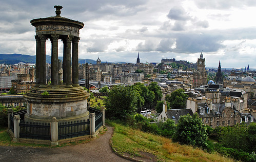 city scotland edinburgh cityscape view hill vista hilltop calton