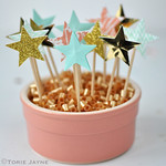 Star cupcake picks