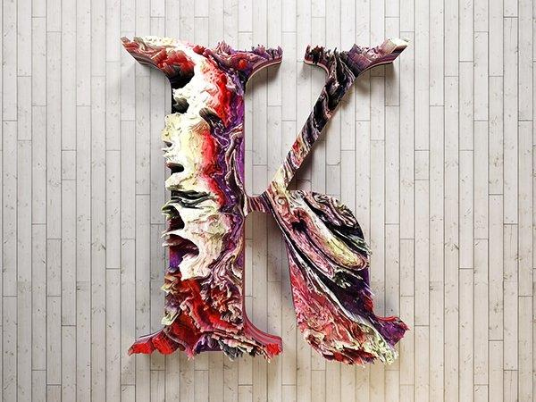 Inspiring examples of 3D typography. Part 1.