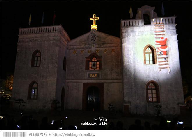 【萬金教堂】屏東萬金教堂聖誕季~3D光雕秀+耶誕地景藝術/全台最濃耶味小鎮!25