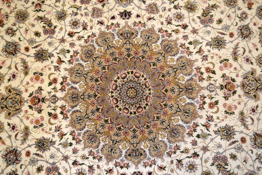 Pair Isfahan Esfahan Kaf Abrisham 7x10 persian Fine Area Rug (14)