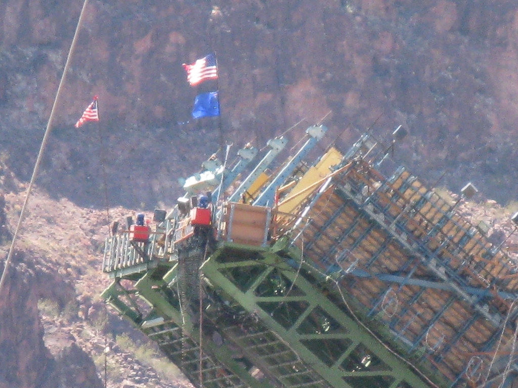 Constructing U.S. 93 bypass bridge